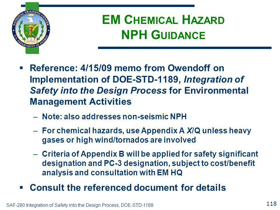 EM Chemical Hazard NPH Guidance