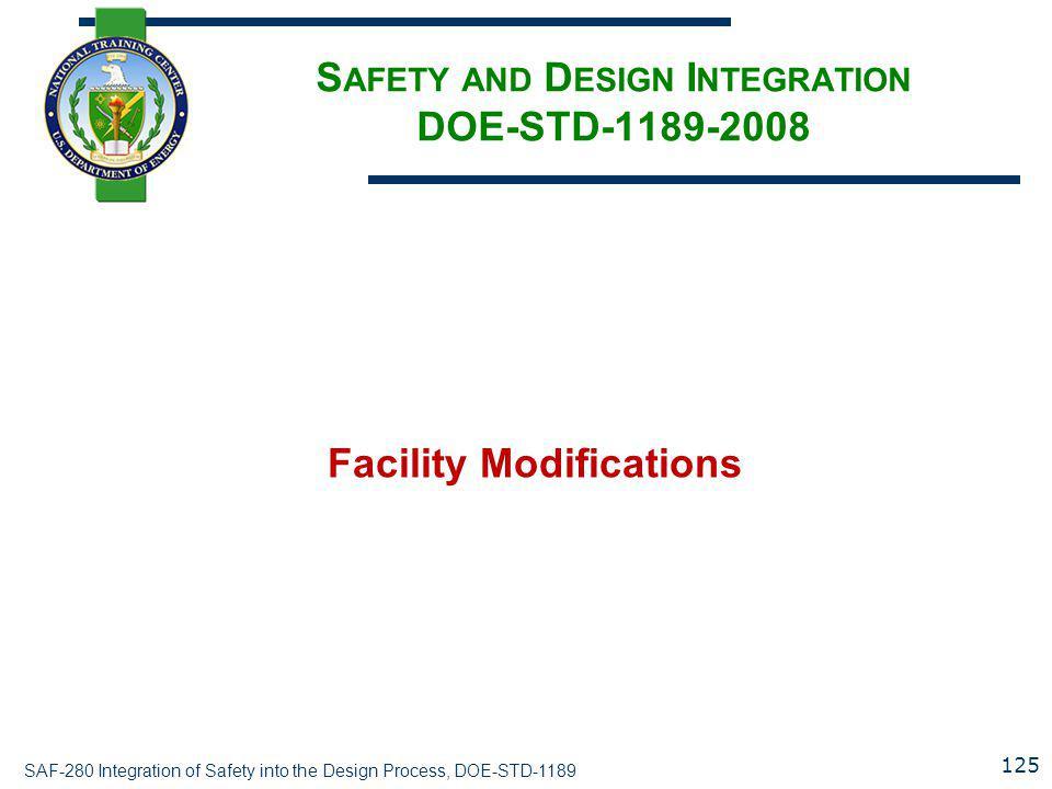 Safety and Design Integration DOE-STD-1189-2008