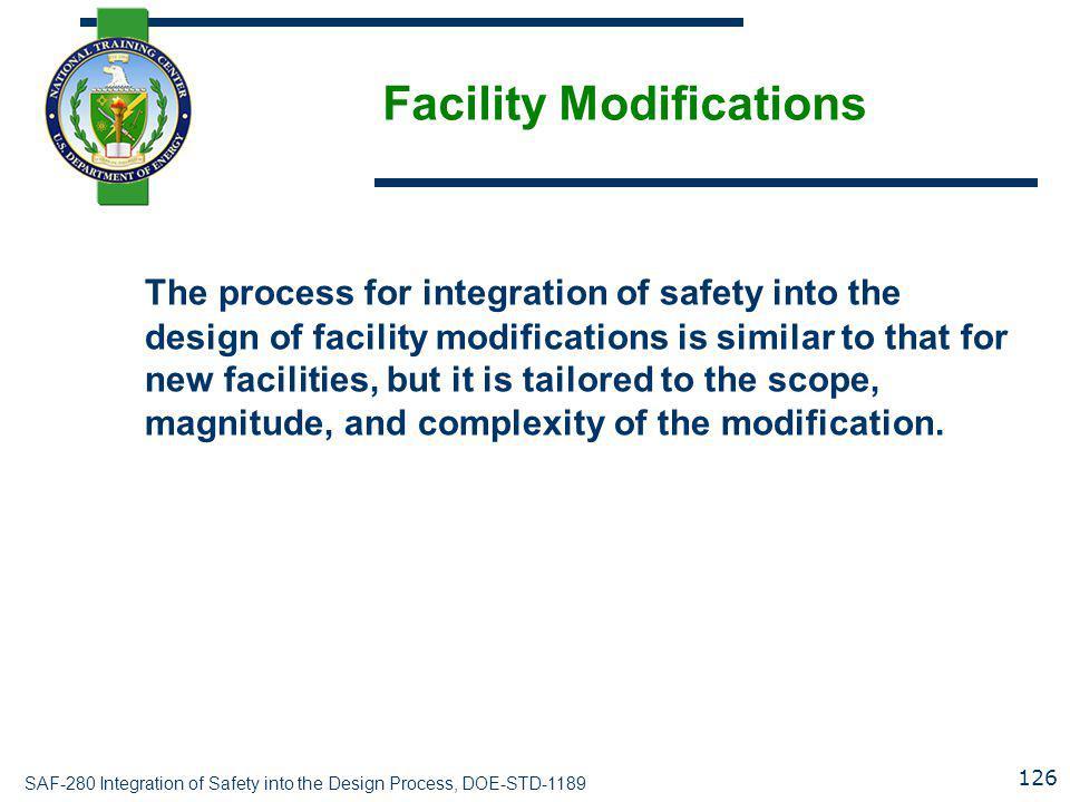 Facility Modifications