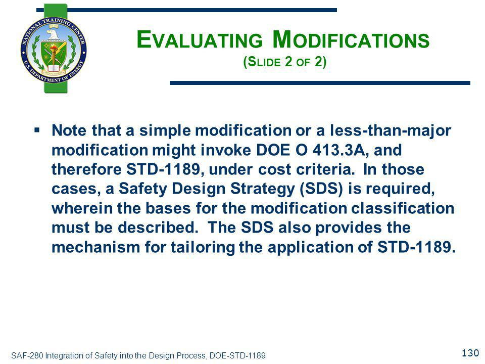Evaluating Modifications (Slide 2 of 2)