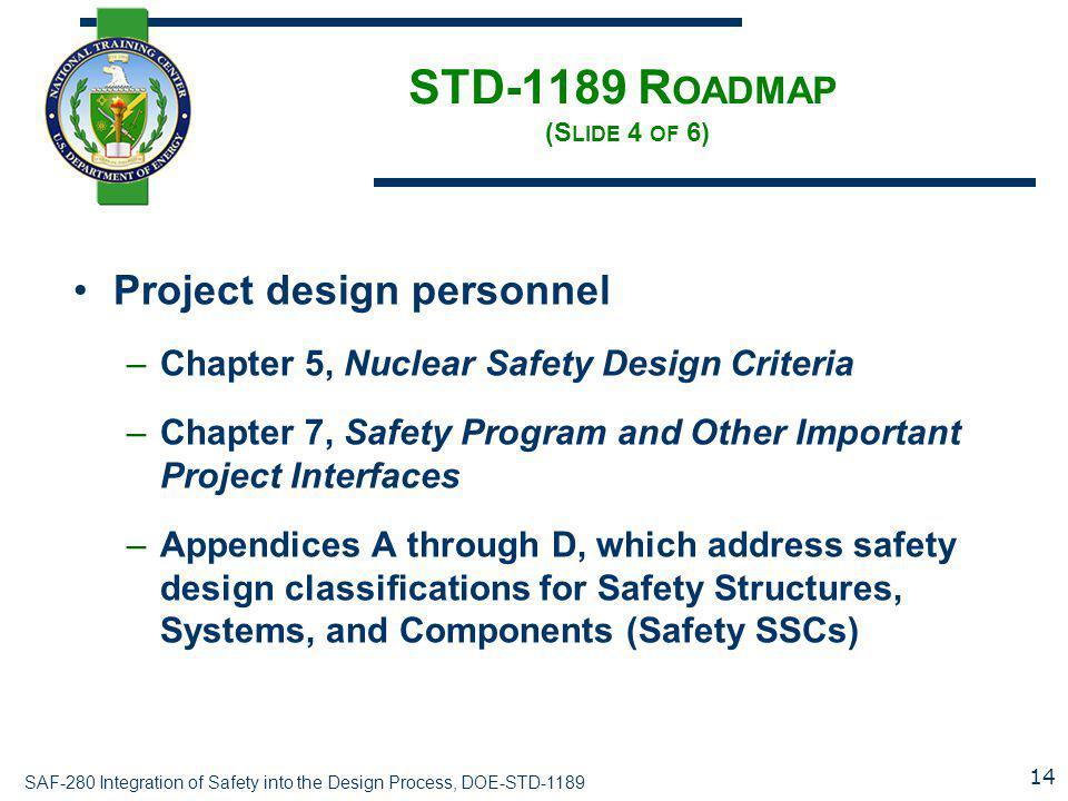 STD-1189 Roadmap (Slide 4 of 6)