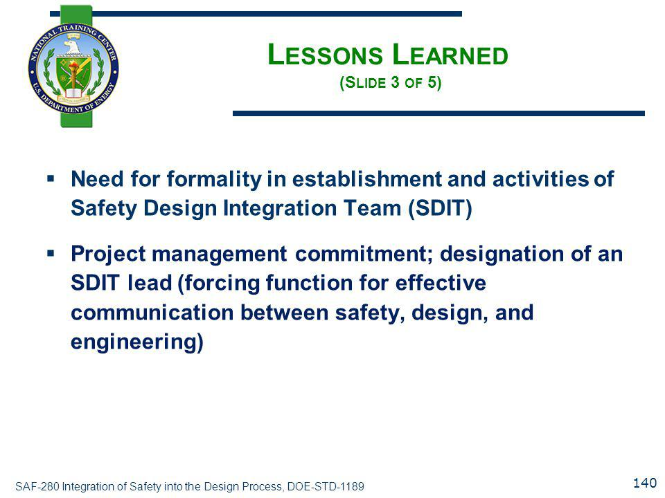 Lessons Learned (Slide 3 of 5)