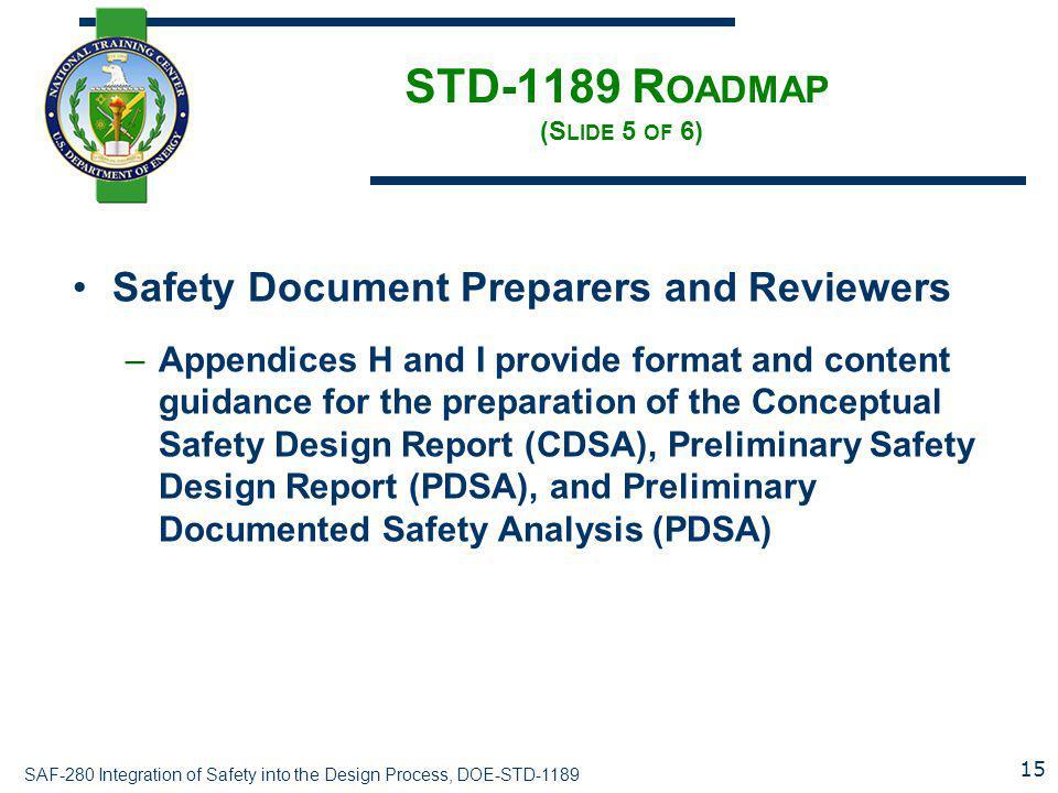 STD-1189 Roadmap (Slide 5 of 6)