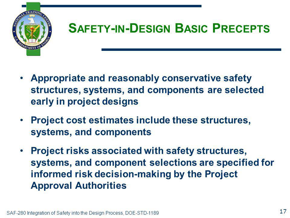 Safety-in-Design Basic Precepts