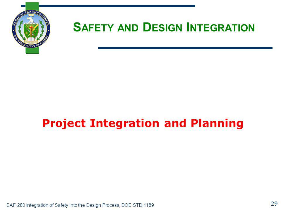 Safety and Design Integration