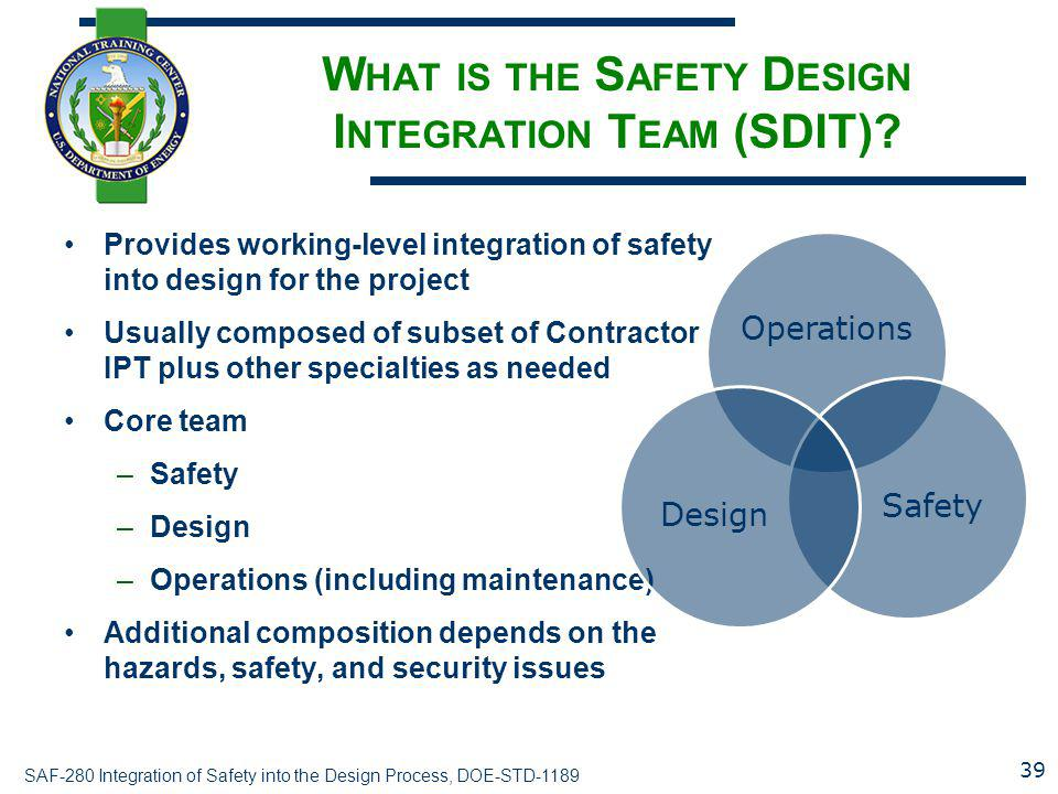 What is the Safety Design Integration Team (SDIT)