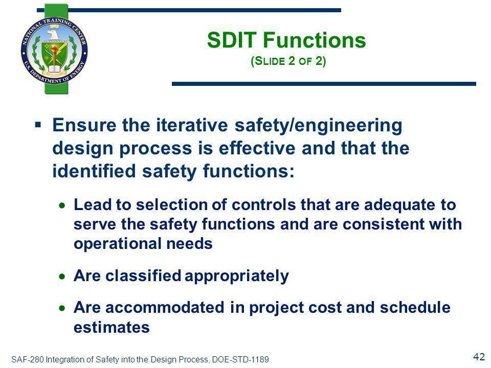 SDIT Functions (Slide 2 of 2)