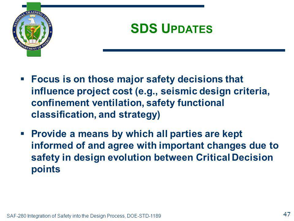 SDS Updates