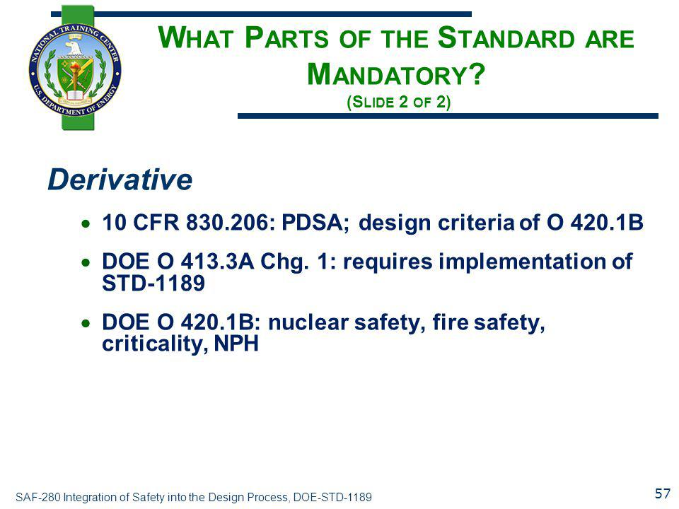 What Parts of the Standard are Mandatory (Slide 2 of 2)