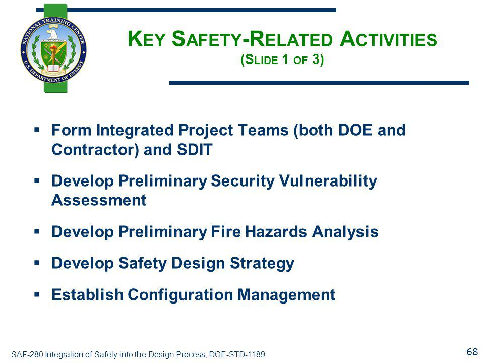 Key Safety-Related Activities (Slide 1 of 3)