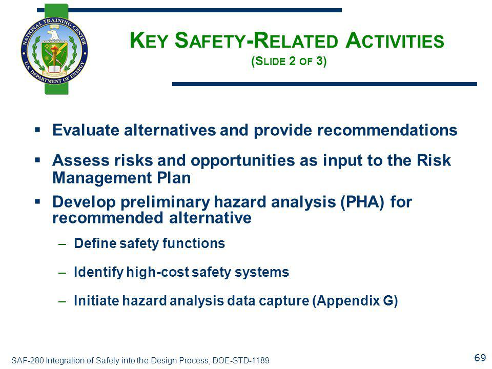 Key Safety-Related Activities (Slide 2 of 3)