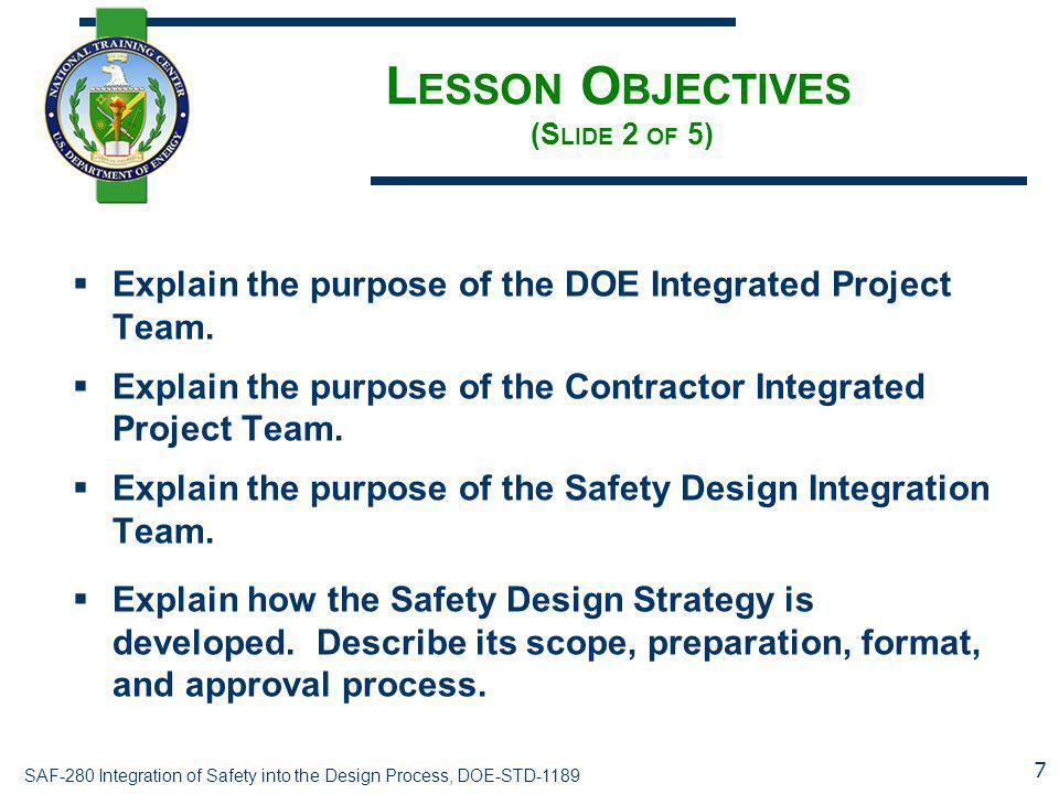 Lesson Objectives (Slide 2 of 5)
