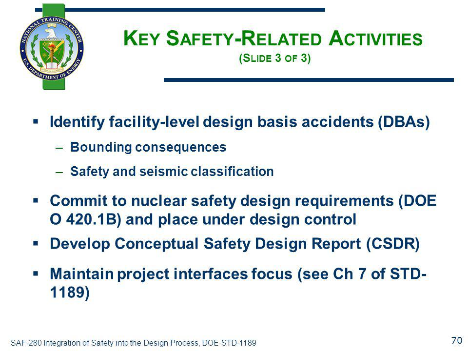 Key Safety-Related Activities (Slide 3 of 3)