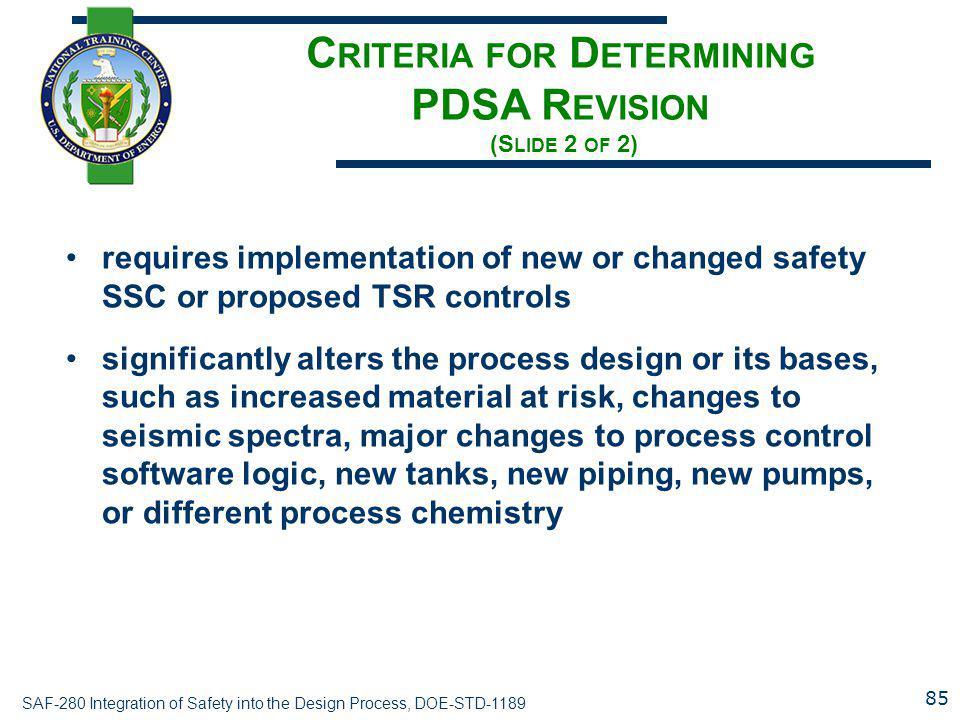 Criteria for Determining PDSA Revision (Slide 2 of 2)