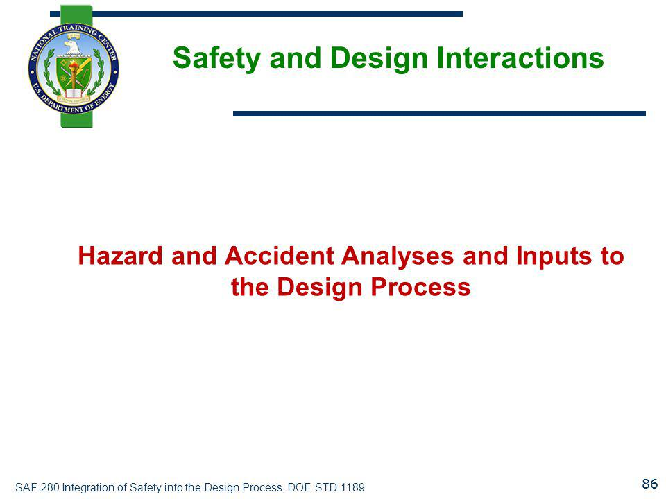 Safety and Design Interactions