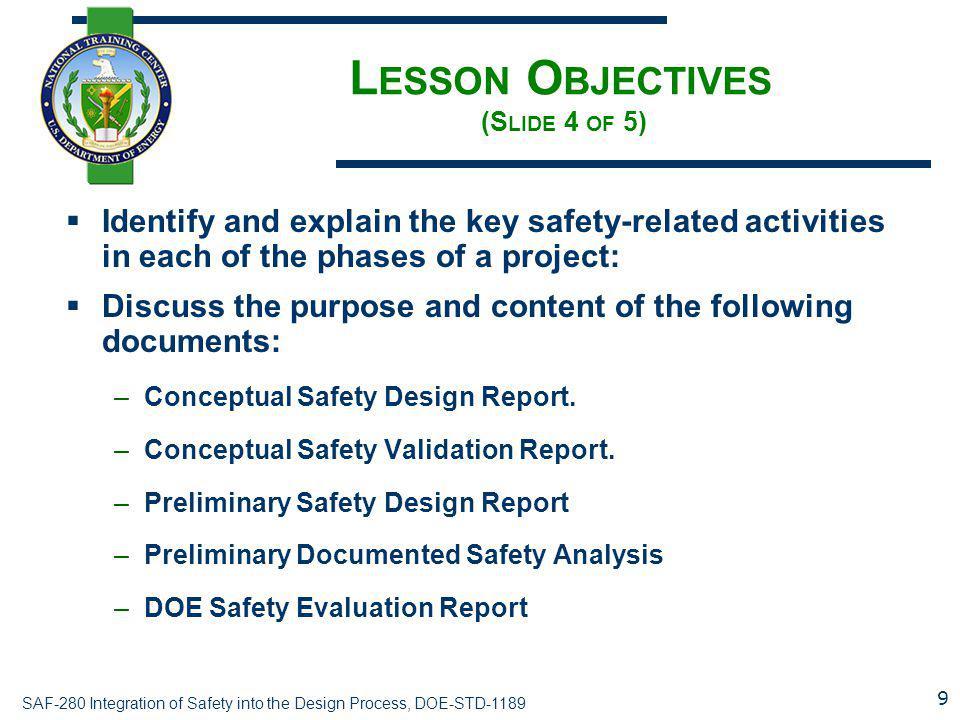 Lesson Objectives (Slide 4 of 5)