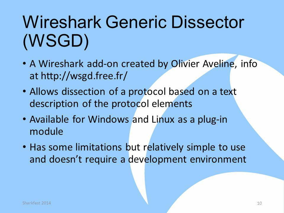 Wireshark Generic Dissector (WSGD)