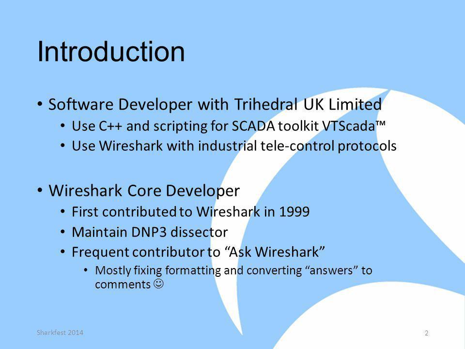 Introduction Software Developer with Trihedral UK Limited
