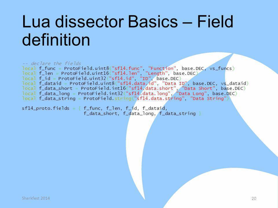 Lua dissector Basics – Field definition