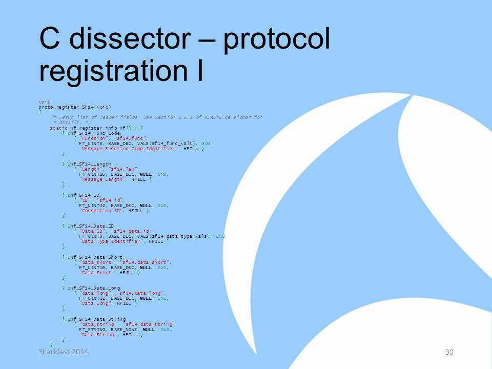 C dissector – protocol registration I