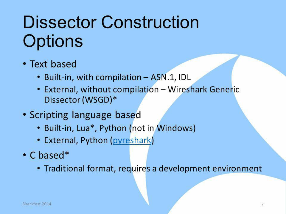 Dissector Construction Options