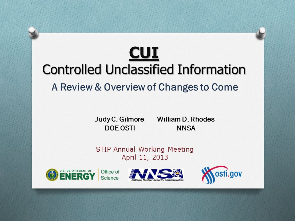 CUI Controlled Unclassified Information