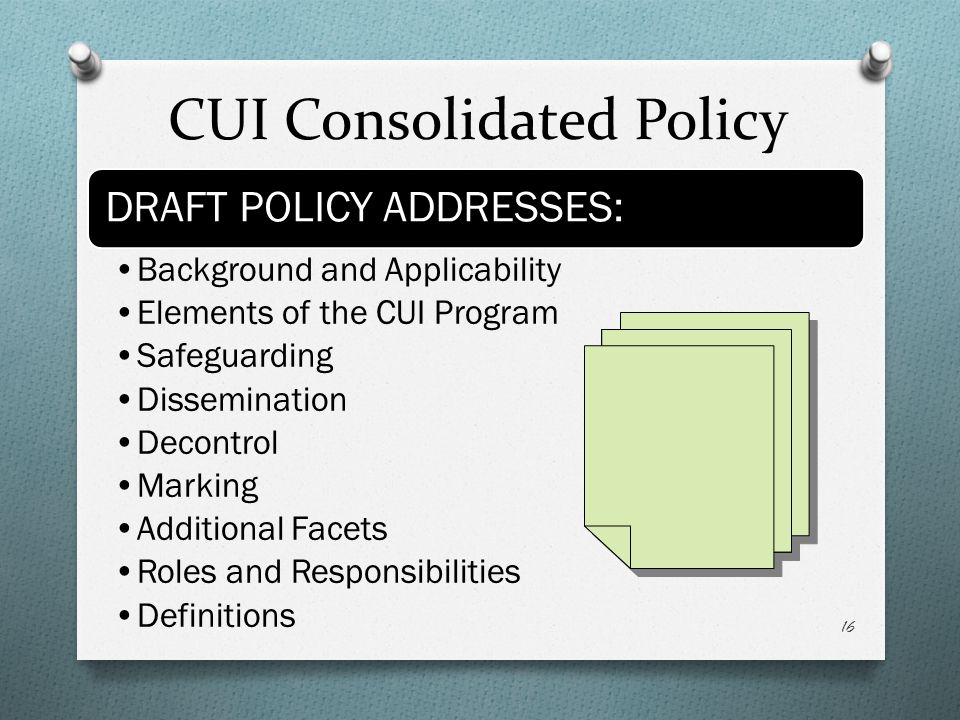 CUI Consolidated Policy