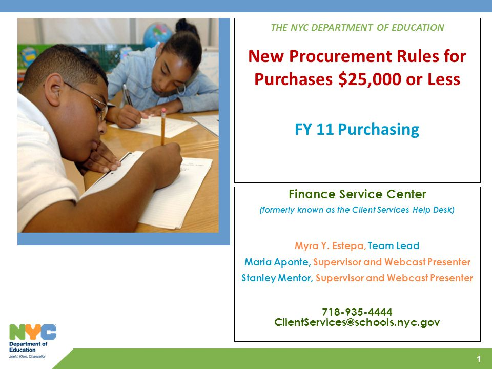 FY 11 Purchasing Finance Service Center