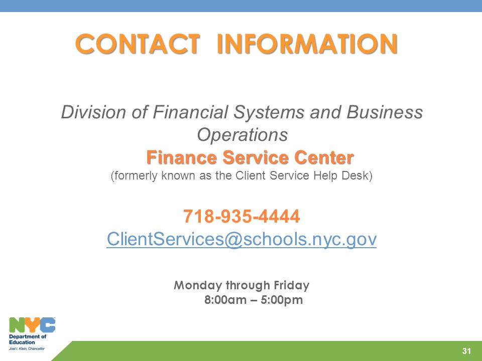 Finance Service Center