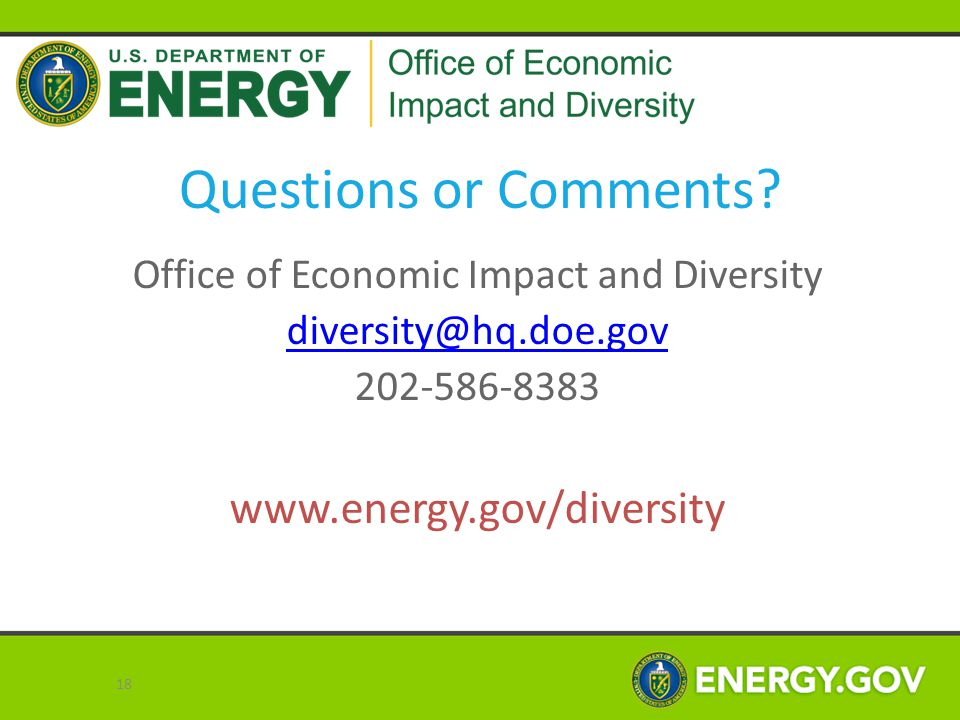 Office of Economic Impact and Diversity