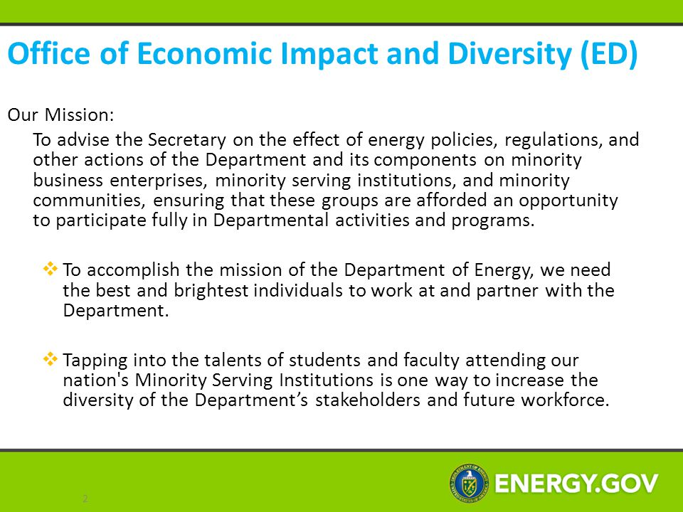 Office of Economic Impact and Diversity (ED)