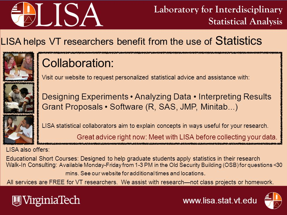Collaboration: Laboratory for Interdisciplinary Statistical Analysis