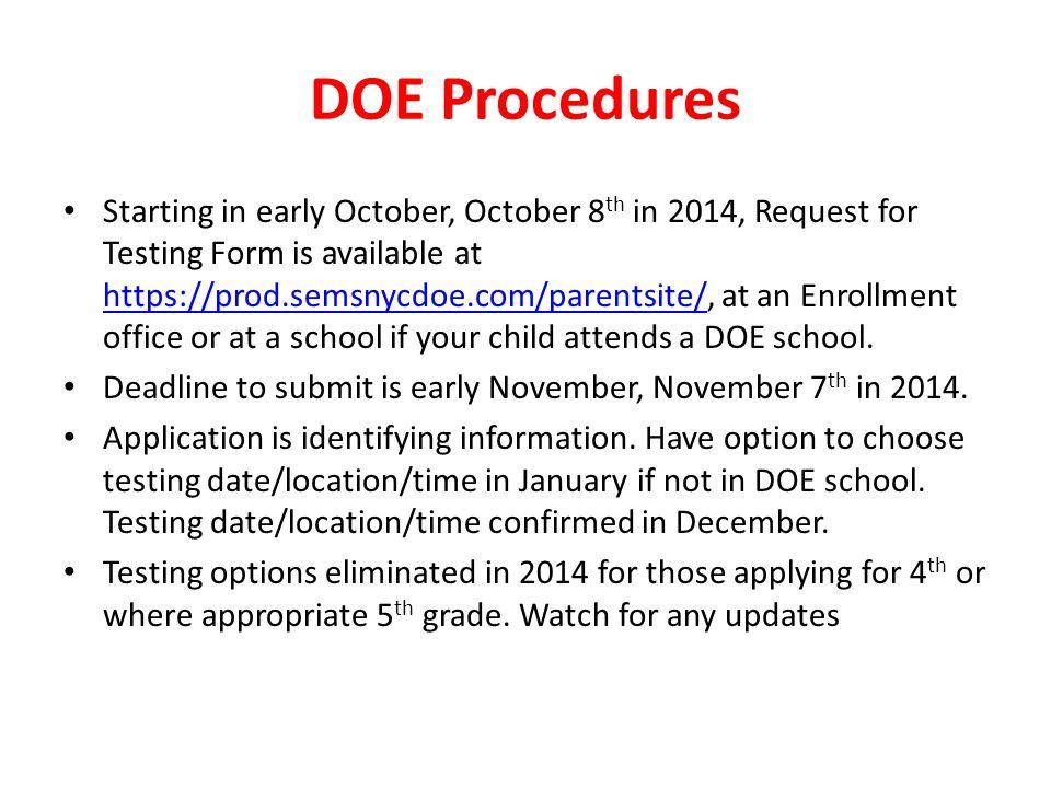 DOE Procedures