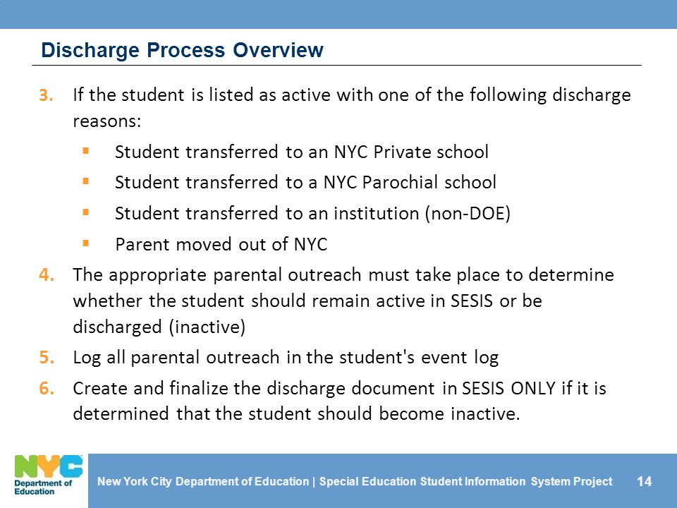 Discharge Process Overview