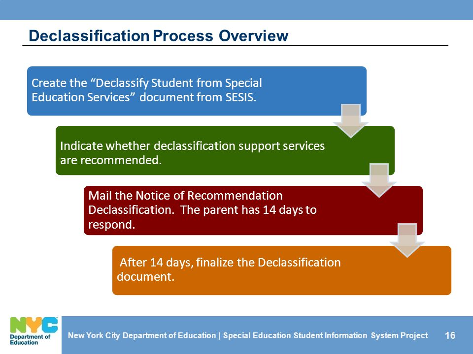 Declassification Process Overview