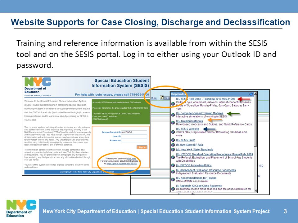 Website Supports for Case Closing, Discharge and Declassification