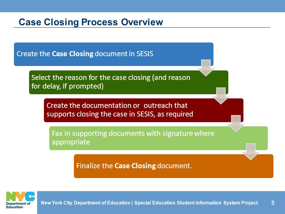 Case Closing Process Overview