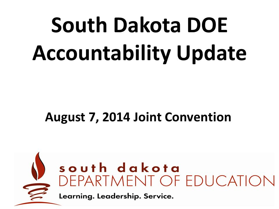 South Dakota DOE Accountability Update