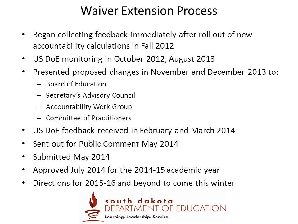 Waiver Extension Process
