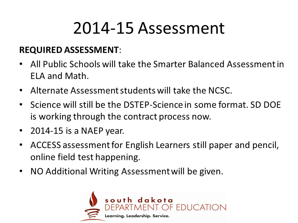 2014-15 Assessment REQUIRED ASSESSMENT:
