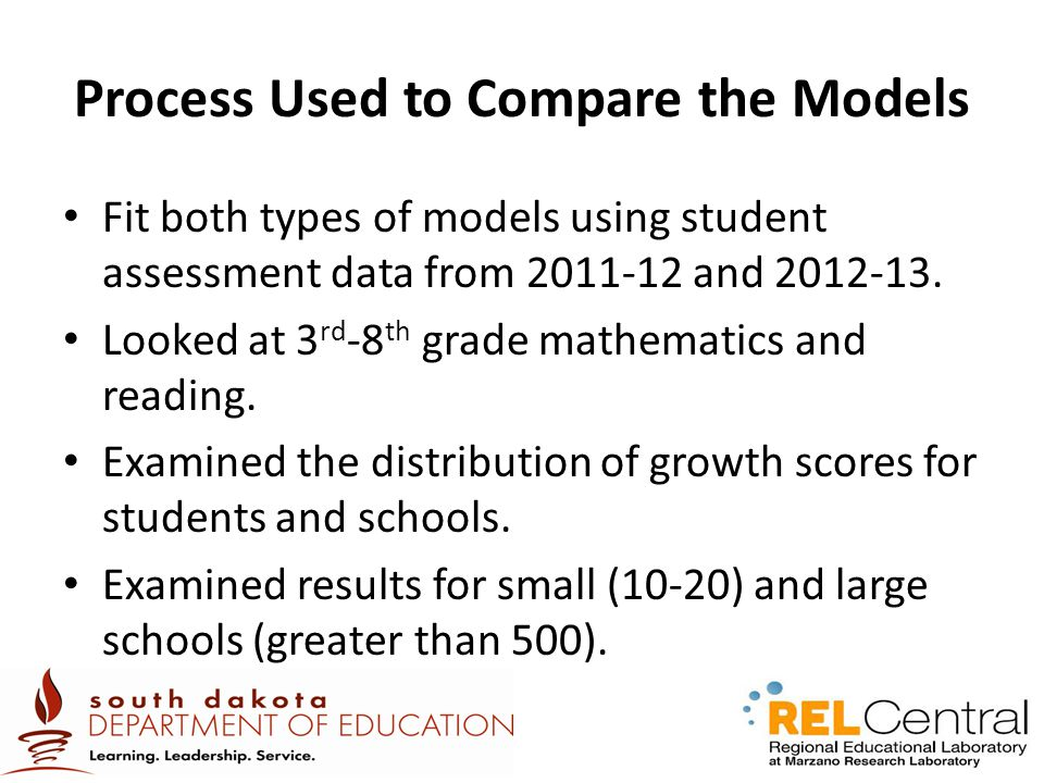 Process Used to Compare the Models