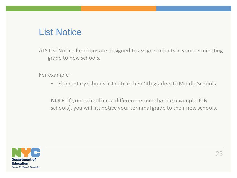 List Notice Default List Notice Schools