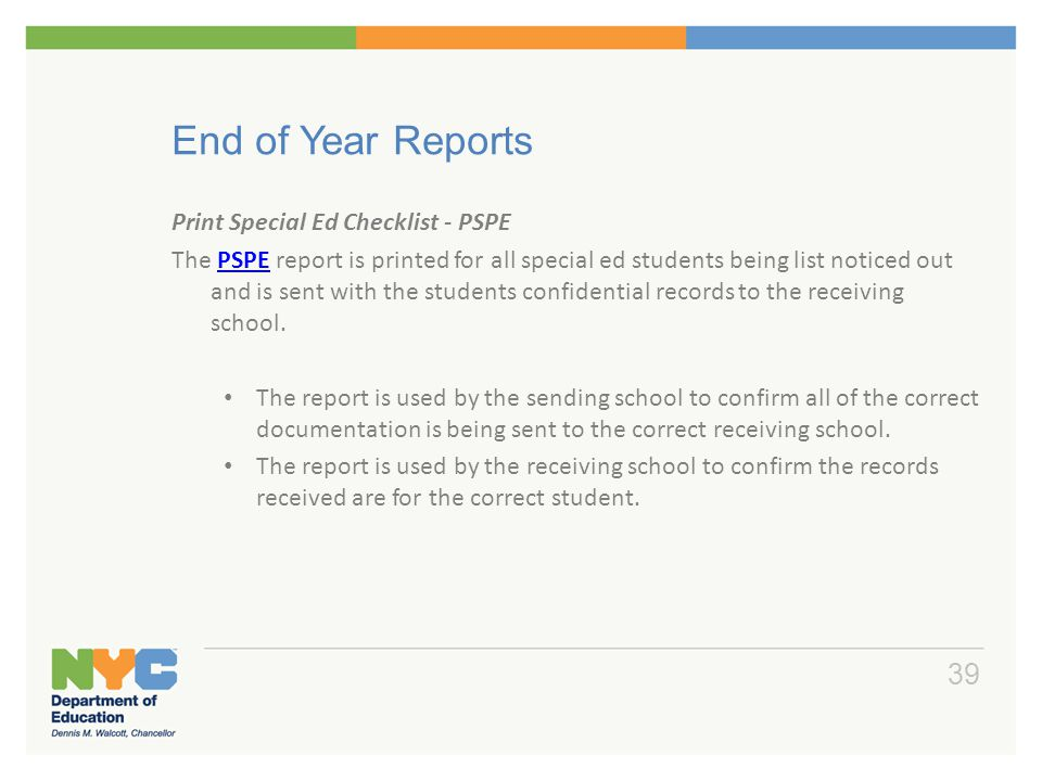 End of Year Reports Jump Code Report Name Description RMIN
