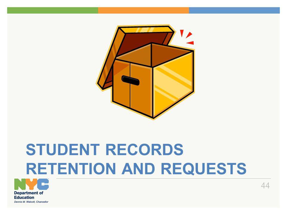 Student Records Retention