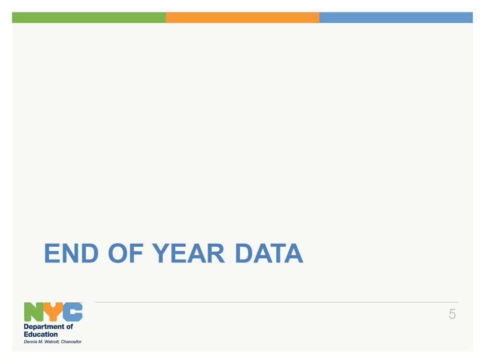 End of Year Data