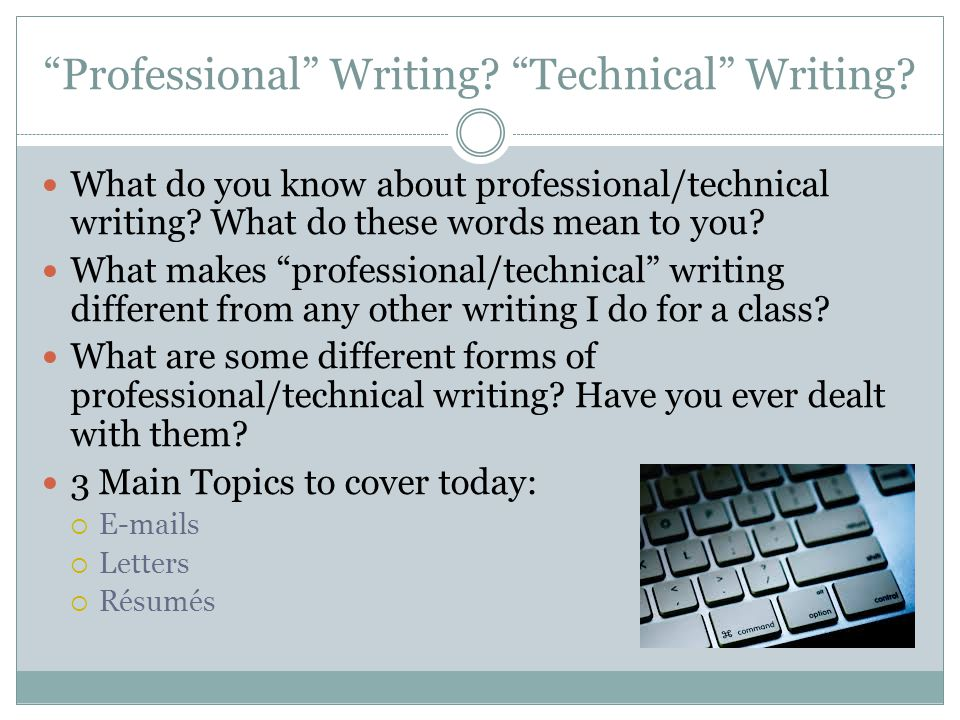Professional Writing Technical Writing