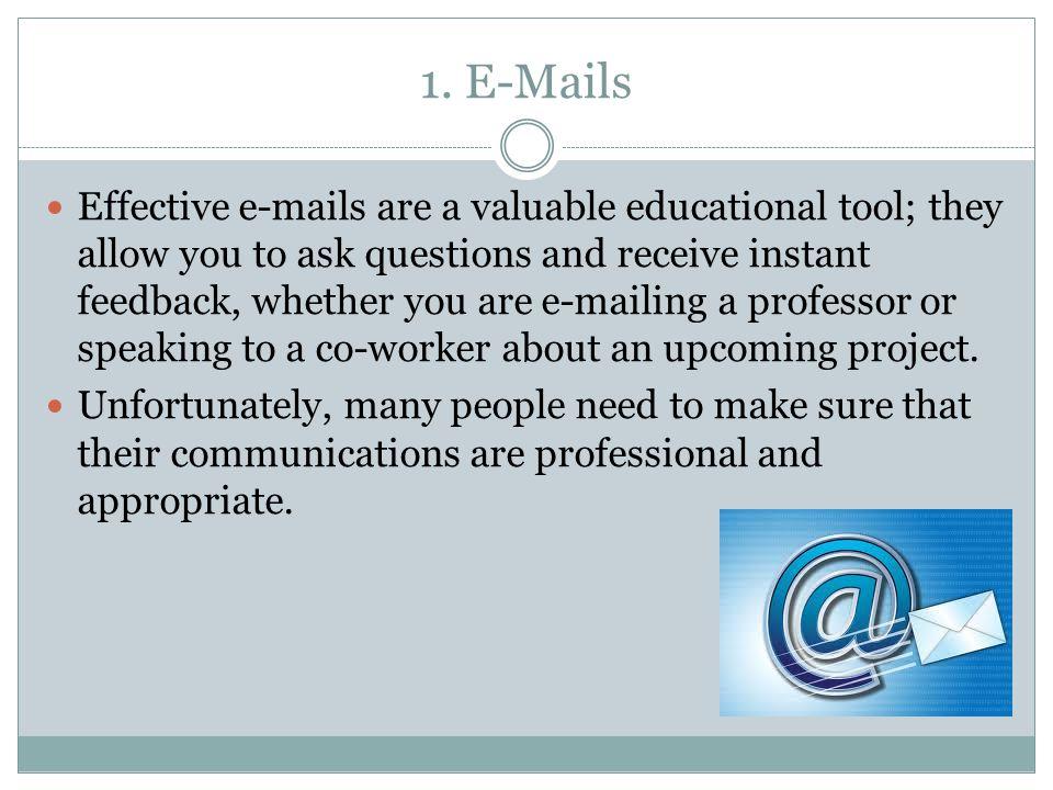 1. E-Mails