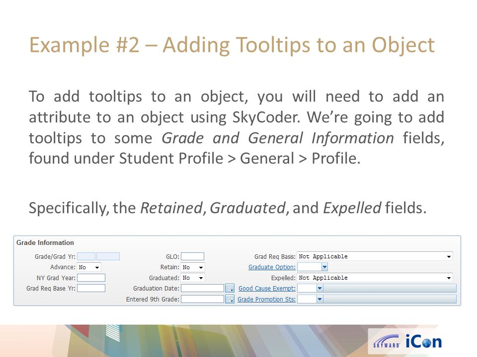 Example #2 – Adding Tooltips to an Object