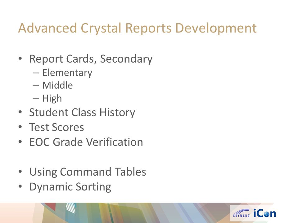 Advanced Crystal Reports Development