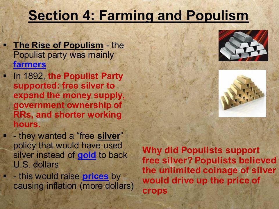 Section 4: Farming and Populism